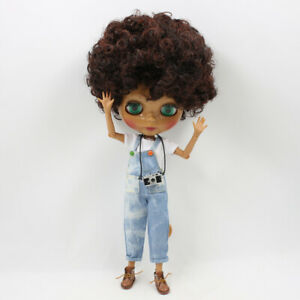 Free shipping factory nude Blyth doll with bangs brown