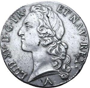 Louis-XV-Ecu-au-bandeau-1760-Lille-Superbe-exemplaire