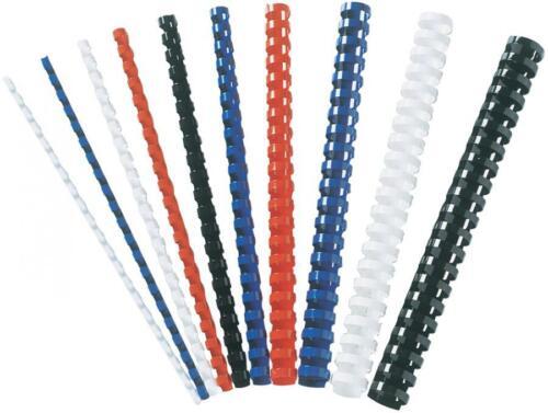DIN A4 21 Ringe 14 mm,schwarz Fellowes Plastikbinderücken