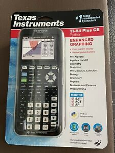 Texas Instruments TI-84 Plus CE Color Graphing Calculator -  (Python Black )