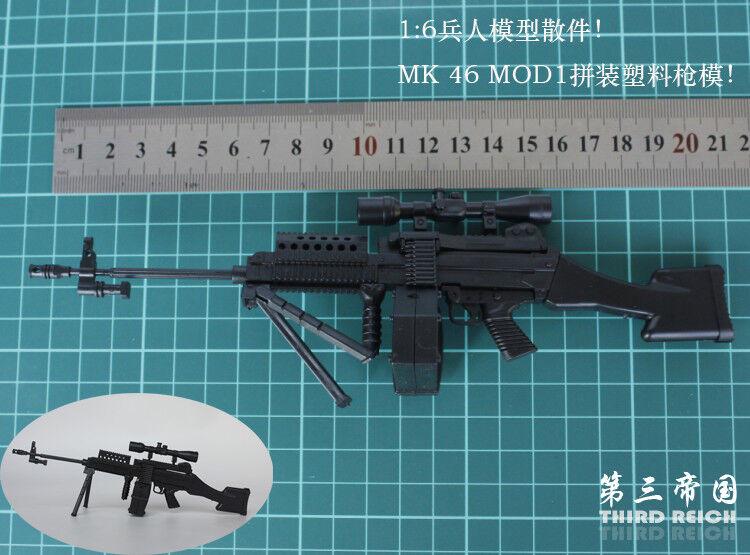 """1//6 SCALA MK 46 MOD0 MOD1 per 12/"""" Action Figure PISTOLA FUCILE modello arma soldato"""