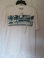 Men's No Bad Days White Palm Tree,beach Theme Graphic T-shirt Size Medium