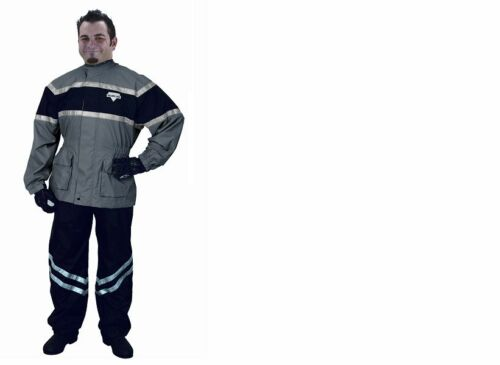 BLACK Grey RAIN SUIT 2PC ADULT Small Nelson Rigg Vented MOTORCYCLE FOUL WEATHER