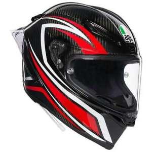 AGV Pista GP-RR Negro Integral Carrera Casco De Moto Talla MS