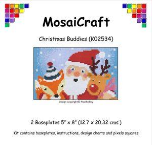 MosaiCraft-Pixel-Craft-Mosaic-Art-Kit-039-Christmas-Buddies-039-Pixelhobby
