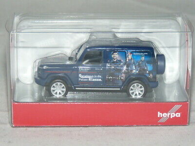 Polizei Österreich 1:87 NEU OVP herpa 094757 Mercedes-Benz G-Modell