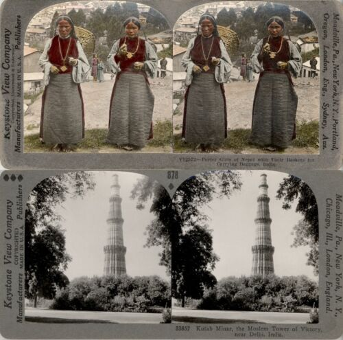 18 STEREOVIEWS INDIA INDIEN DELHI CALCUTTA 1900 Series 2