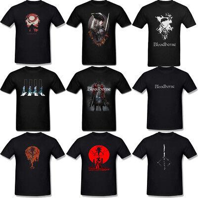 Bloodborne Game Custom Black T-shirt USA Size Men/'s