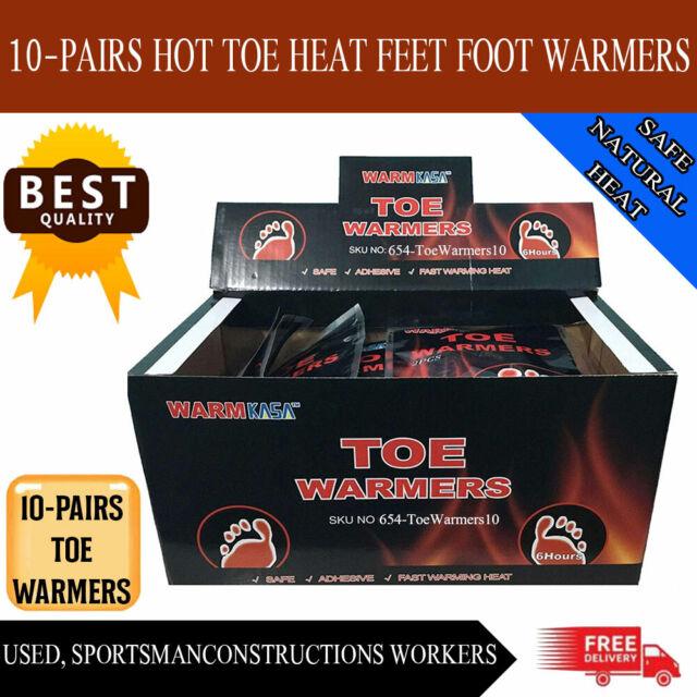 20 KASA 10 Pairs Hot Toe Heat Feet Foot Warmers Pack Sole Warmer Ski Snow