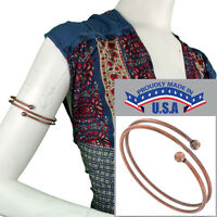 Upper Arm Bracelet Copper Ox Tri Tone Armlet Sprial Size Xl Large Usa Made