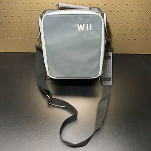 Nintendo-Wii-Console-Game-Controller-Gray-Travel-Case-Messenger-Bag-Carry-All