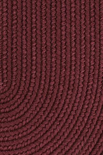 WearEver Durable Country Cottage Home Classic Solid Braided Rug Burgundy S022