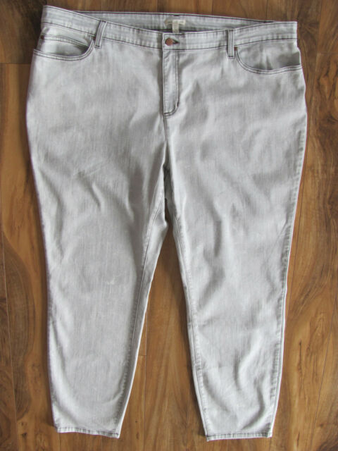 154d74a5ea9 Eileen Fisher Woman Skinny Jeans-Stretch-Organic-Mineral Gray-Size 24W-