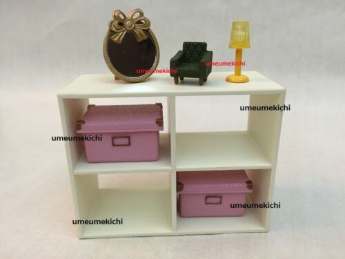 Re-ment dollhouse miniature shelf boxes mirror mini sofa lamp 2007