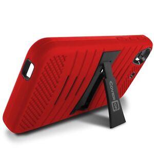 Para-HTC-Desire-626-626S-Case-Rojo-Hybrid-ALTA-RESISTENCIA-FUERTE-Telefono-Cubierta-De-pie