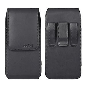 Phones-Leather-Vertical-Case-Pouch-Belt-Clip-Loop-Holster-XL-Fits-Otterbox-Cover