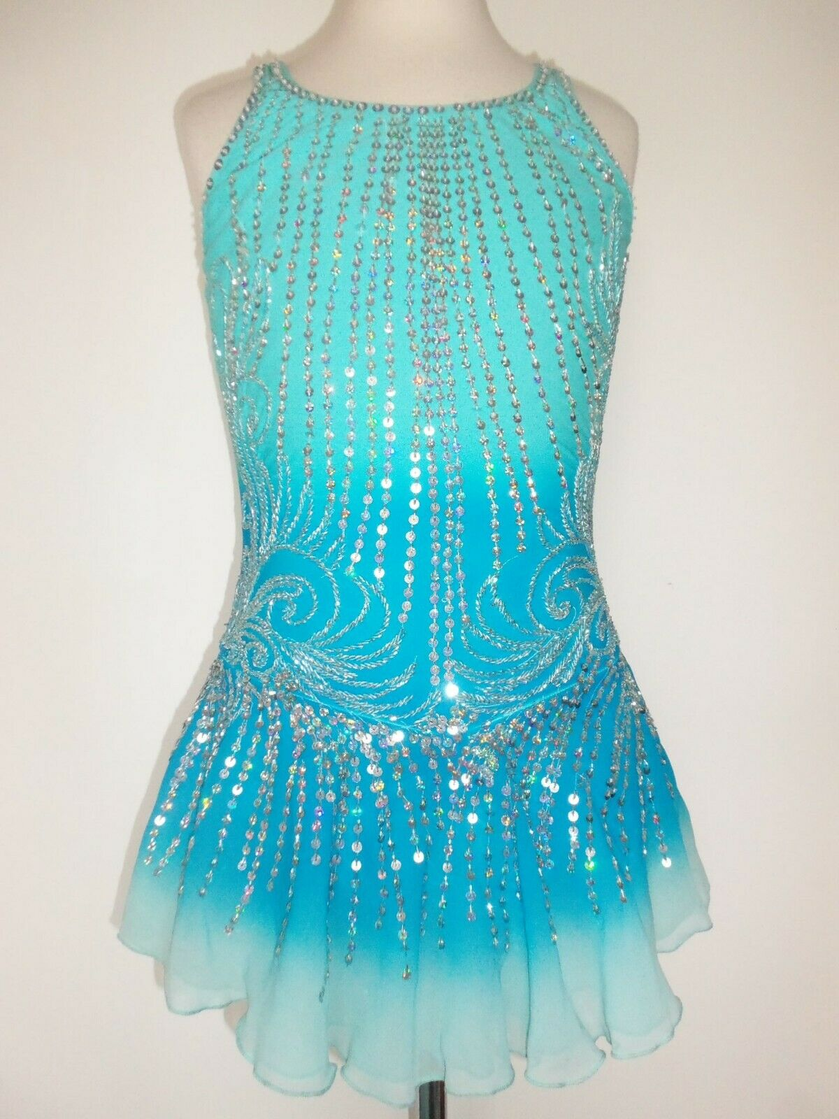 SALE  NEW FIGURE ICE SKATING BATON TWIRLING DRESS COSTUME GIRL S