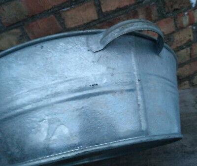 Vintage wash basin metal oval sauna USSR New old stock
