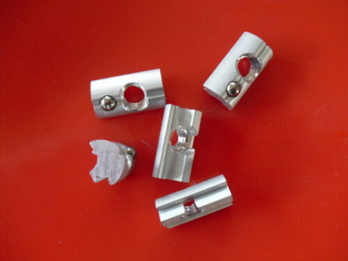 Nutensteine 10x13mm M8 L=22  10 Stück  Alu mit Edelstahlkugel selbstfixierend
