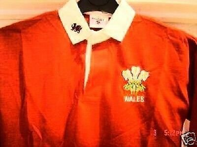 WALES WELSH BABYS KIDS ADULTS  RUGBY SHIRT CYMRU FEATHERS FULL SLEEVE  ALL SIZES