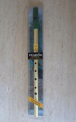 "Feadog Irish Tin Whistle Penny Whistle Irish Products Brass Key /""D/""  8073BR"