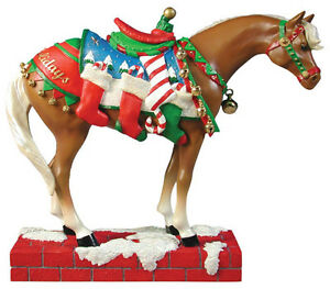 Trail-of-Painted-Ponies-HAPPY-HOLIDAYS-FIGURINE-Retired-New-in-Box-1st-Edition