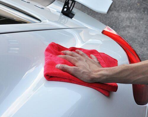 "Detailer 365 UItraplush Premium Microfiber Towels 16/""x16/"" 400GSM Red 12 Pack"