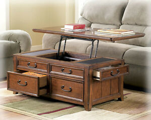 coffee table w lift top trunk flip up storage drawers wood cocktail tables desk ebay. Black Bedroom Furniture Sets. Home Design Ideas