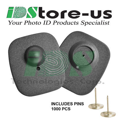 100 CHECKPOINT SECURITY COMPATIBLE RF 8.2MHZ MINI TAG BLACK W//PIN EAS ANTI-THEFT