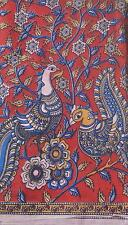 Cotton kalamkari block print fabric - 100 cms length by 43 inches Classic 2nd D