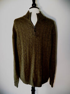 Details about THE SAVILE ROW COMPANY LONDON Mens Pullover Green Cable Knit Sweater NWT XL