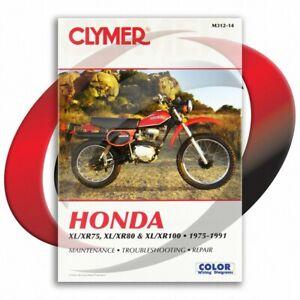 1979-1985-Honda-XL100S-Repair-Manual-Clymer-M312-14-Service-Shop-Garage