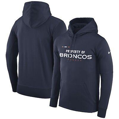 Details about Nike Men's Denver Broncos Property Of Therma Fit Hoodie Sweatshirt XL NFL