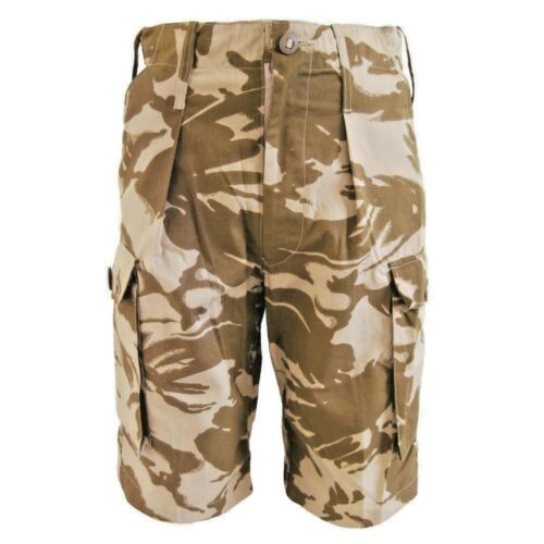 BRITISH ARMY ISSUE DESERT COMBAT SHORTS USED GRADE 1 ARMY SHORTS ALL SIZES