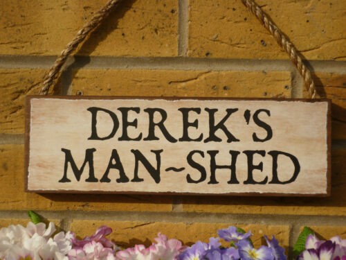 PERSONALISED POTTING SHED SIGN GARDEN SHED SEED SHED OWN NAME SIGN UNIQUE GIFTS