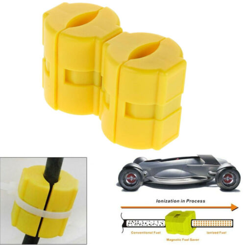 2 PCS Car//Truck Fuel Saver Gas Savings Magnetic Technology Line Conditioner Lot