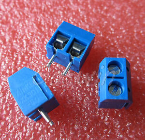 50pcs-KF301-2P-2-Pin-Plug-in-Screw-Terminal-Block-Connector-5-08mm-Pitch