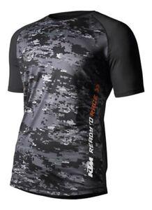 KTM-Mens-Emphasis-Tee-Short-Sleeve-Stretch-Black-T-Shirt-New-RRP-45-90