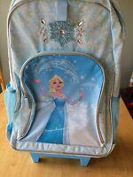 Disney Store Frozen Elsa Rolling Backpack Luggage Girls School