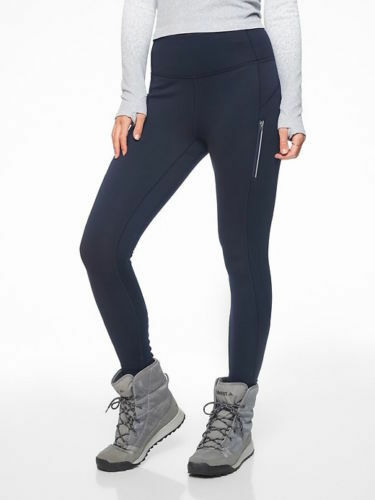 NWT Athleta PrimaLoft Ridge Tight- Navy   SIZE L T              N0313