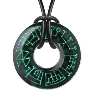 Details about Angel Ring Occult Pendant 7 Planetary Archangels Seals Green  Alchemy Gothic N203