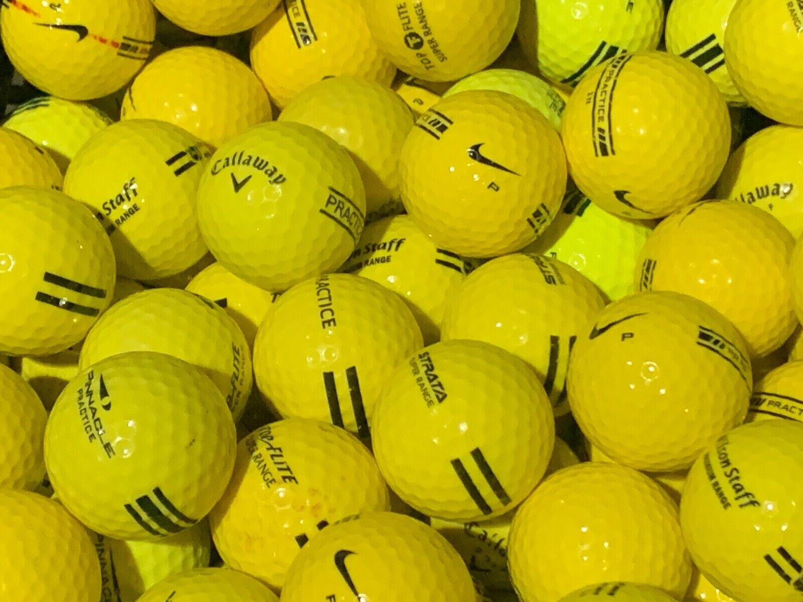 100 Yellow Mix Range Balls  AAAA / AAAAA Used Practice Golf Balls