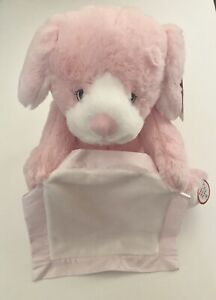 "Pink 10/"" Gund Peek a Boo Puppy Animated Stuffed Animal Plush"
