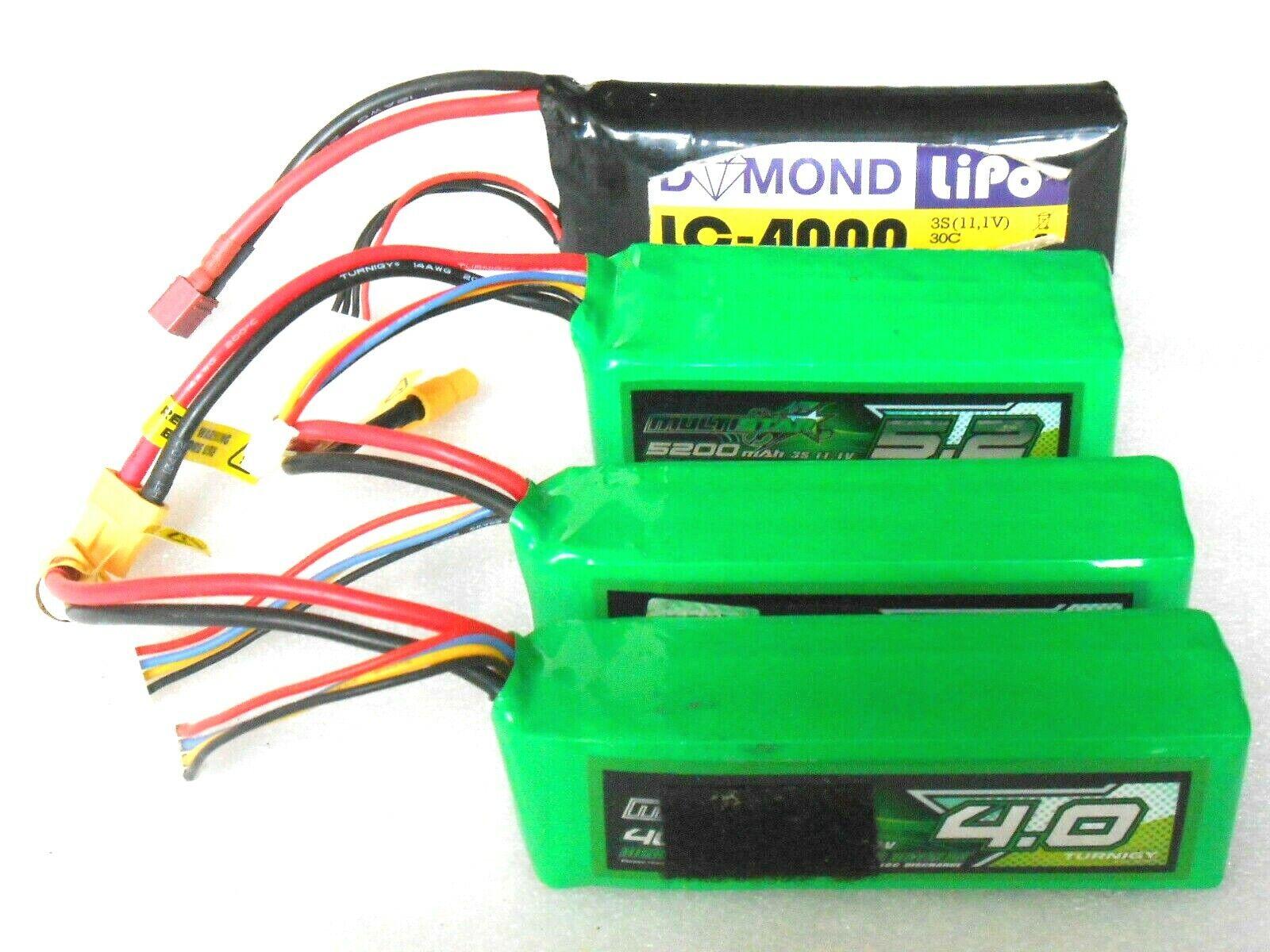 8 Pezzo Usate Lipo Batteria 1.800 MAH fino a 5.200 MAH