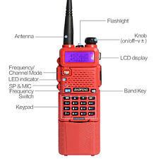 USA Stock BaoFeng UV-5R DualBand Radio Transceiver+3800mah Battery Walkie Talkie