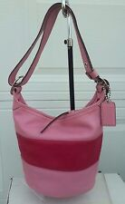 COACH LEATHER RUGBY DUFFLE BUCKET TOTE BAG PURSE F13357