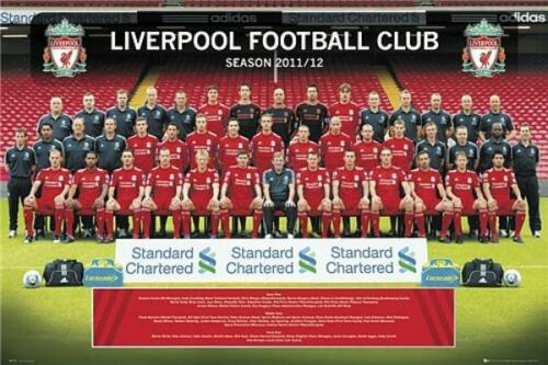 new /& sealed Maxi Poster 61cm x 91.5cm Liverpool Team Photo 2011-2012