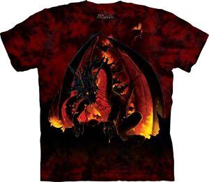 The Mountain Unisex Adult Lavaborn Dragon Fantasy T Shirt