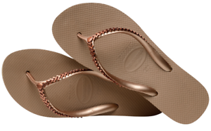 efda5051a89 Havaianas Women`s Flip Flops High Metal Grega Rose Gold Wedge ...