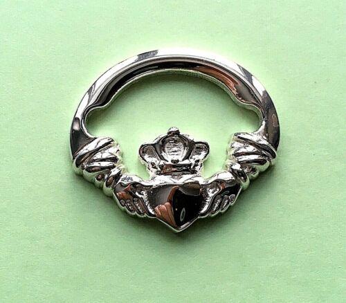 Claddagh Grand fermoir argent sterling 925 neuf utilisé avec Convertible Bracelet